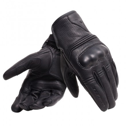 Guanti pelle moto traforati Dainese Corbin Air black perforated leather gloves