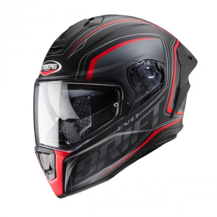Casco integrale carbonio moto Caberg Drift Evo Integra nero opaco rosso matt black antracite red fluo helmet casque
