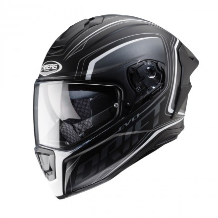 Casco integrale carbonio moto Caberg Drift Evo Integra nero opaco bianco matt black antracite white helmet casque