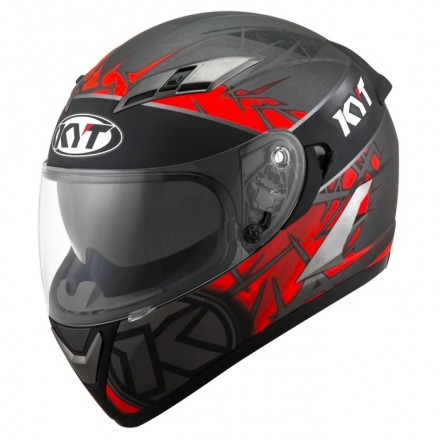Casco integrale moto KYT Falcon 2 Rift Rosso Red Antracite helmet casque