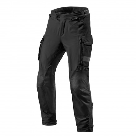 Pantaloni moto touring adventure 4 stagioni impermeabile Rev'it Offtrack nero black 4 seasons waterproof pant trouser