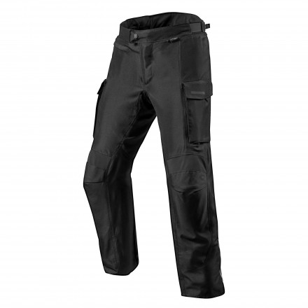 Pantaloni moto touring adventure 4 stagioni impermeabile Rev'it Outback 3 nero black 4 seasons waterproof pant trouser