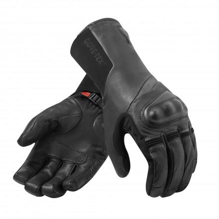 Guanti moto pelle invernali Rev'it Kodiak goretex Nero black winter leather gloves