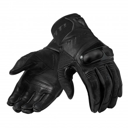 Guanti pelle moto Rev'it Hyperion nero Black leather gloves
