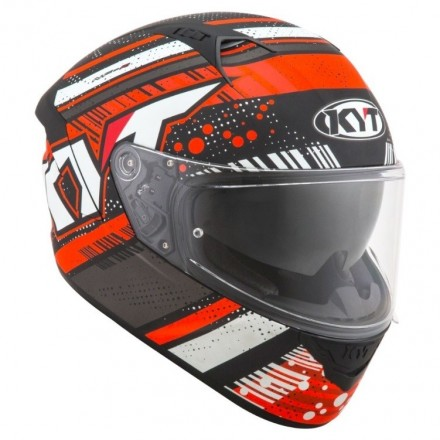 Casco integrale moto KYT NF-R Energy Antracite rosso Red helmet casque