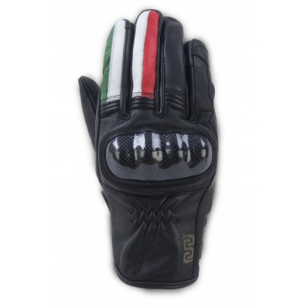 Guanti moto pelle con protezioni Oj Fighter Italia leather gloves