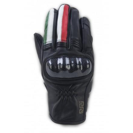 Guanti moto pelle con protezioni Oj Fighter Italia leather gloves