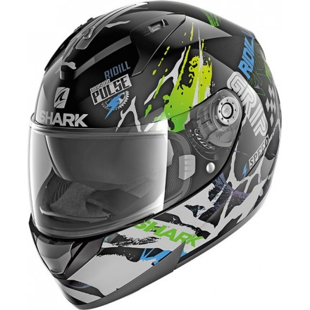 Casco integrale donna Shark Ridill 1.2 Drift-R nero verde blu black green blue helmet casque