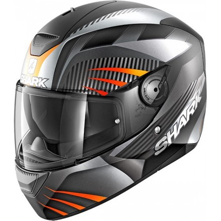 Casco integrale Shark D-Skwal Mercurium nero arancione black antracite orange helmet casque