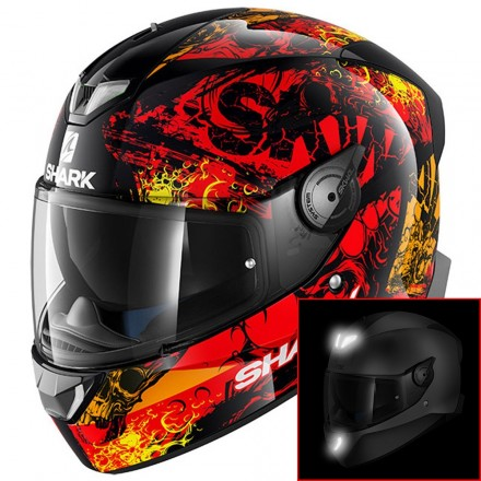 Casco integrale moto Shark Skwal 2 Nuk'hem Nero rosso arancione black red orange helmet casque