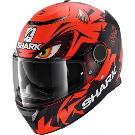 Casco integrale moto fibra Shark Spartan 1.2 Lorenzo Austrian replica rosso red helmet casque