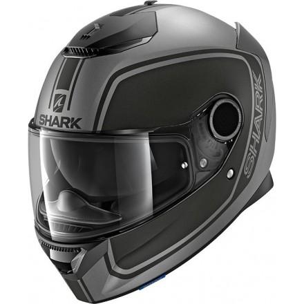 Casco integrale moto fibra Shark Spartan 1.2 Priona antracite opaco nero matt black helmet casque