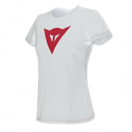 T-Shirt maglia donna Dainese Speed Demon lady bianco rosso white red woman