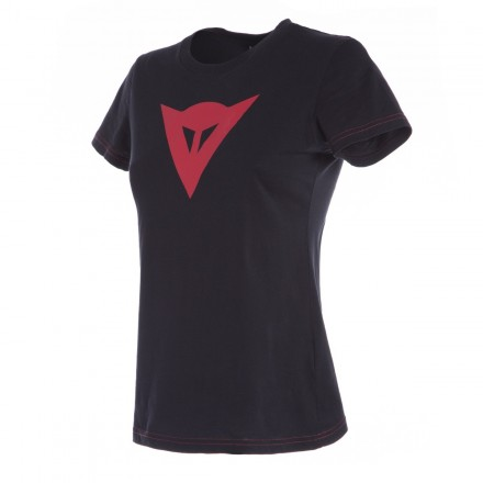 T-Shirt maglia donna Dainese Speed Demon lady nero rosso black red woman