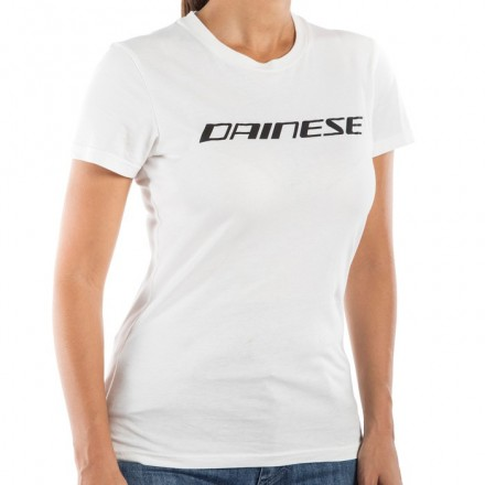 T-Shirt donna maglia Dainese lady bianco nero white black woman
