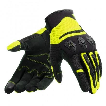 Guanti moto primavera estate Dainese Aerox nero giallo black fluo yellow spring summer gloves
