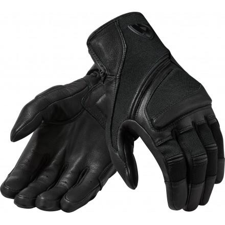 Guanti moto pelle e tessuto estivi Rev'It Pandora nero Black leather texile summer gloves