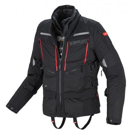 Giacca moto touring adventure 4 stagioni Spidi 4Season H2out nero black jacket
