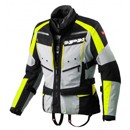 Giacca moto touring adventure 4 stagioni Spidi 4Season H2out nero grigio giallo black silver yellow fluo jacket