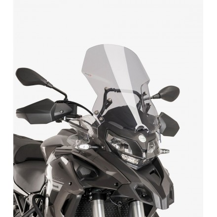 PUIG 9485H CUPOLINO TOURING BENELLI TRK 502 2016-2019 FUME' CHIARO windshield windscreen light smoke