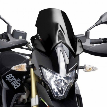 Cupolino Fairing Touring Aprilia Dorsoduro 1200 2011-2016 nero Puig 4947n windshield windscreen black