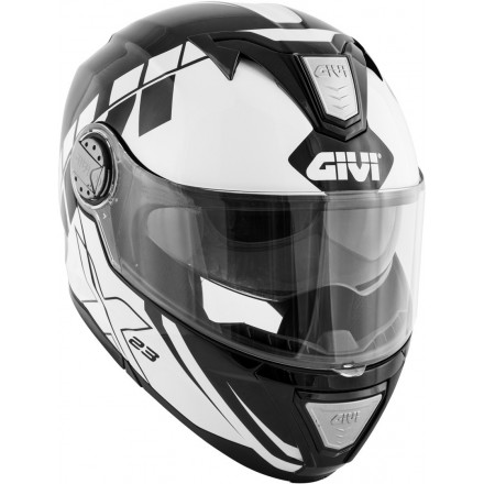Casco modulare apribile moto Givi X.23 Sydney Eclipse nero bianco black white Flip up Helmet casque