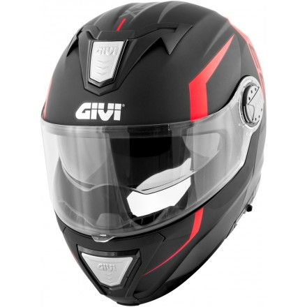 Casco modulare apribile moto Givi X.23 Sydney Viper nero opaco arancione black matt orange Flip up Helmet casque