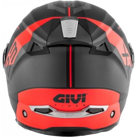 Casco modulare apribile moto Givi X.23 Sydney Viper nero opaco arancione black matt orange Flip up Helmet casque