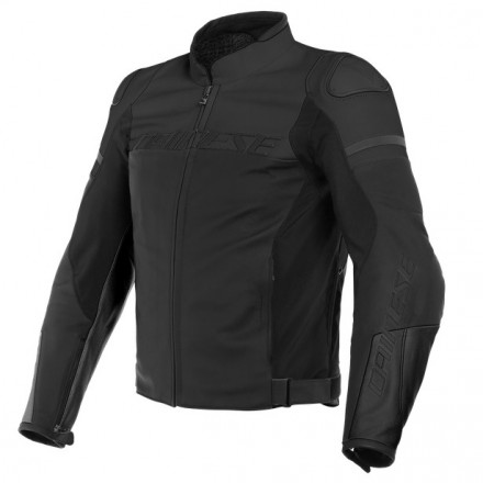 Giacca pelle moto sport naked touring Dainese Agile nero black leather jacket