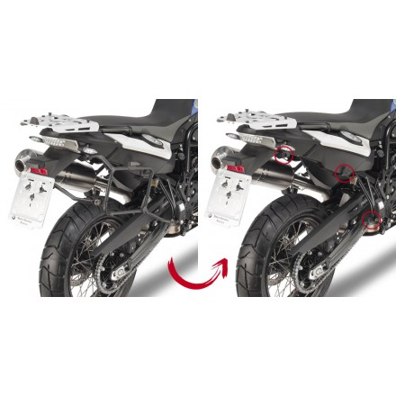 Telai Laterali rimozione rapida Givi Plr5103 Bmw F650 Gs F800 Gs 08-17 holder side cases