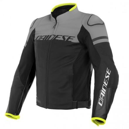 Giacca pelle Dainese Agile nero grigio black grey moto sport racing naked touring leather jacket