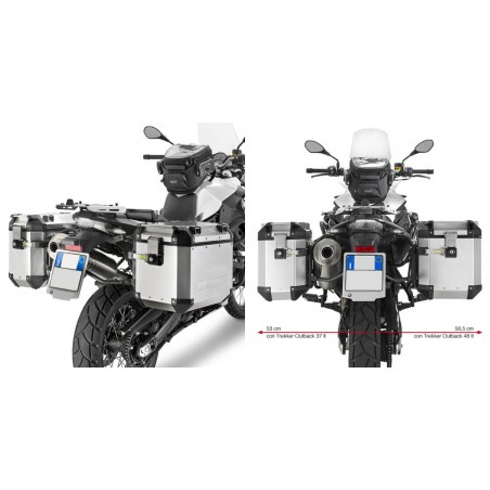 Telai Laterali valigie outback Givi Pl5103cam Bmw F650 Gs F800 Gs pannier holder