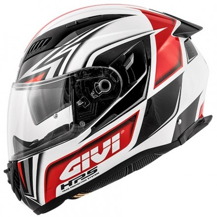 Casco integrale moto in fibra Givi 405 X-Fiber GP bianco rosso nero white red black helmet casque