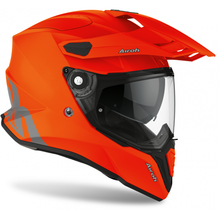 Casco integrale moto on off adventure Airoh Commander Arancione orange matt CM32 helmet casque