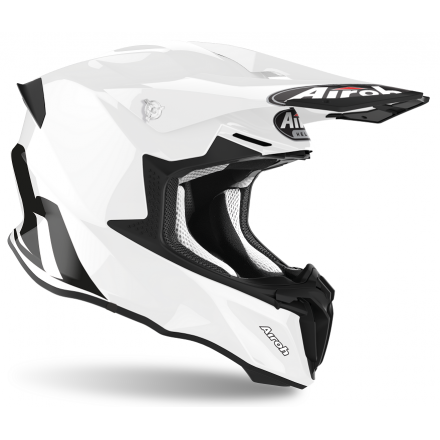 Casco moto cross enduro motard off road Airoh Twist 2.0 bianco white TW214 helmet casque