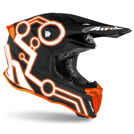 Casco moto cross enduro motard off road Airoh Twist 2.0 Neon arancione opaco orange matt TW2N32 helmet casque
