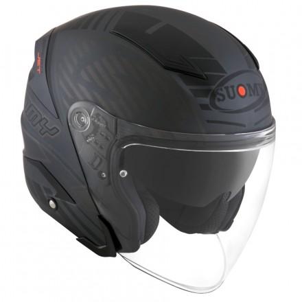 Casco jet fibra Suomy Speedjet SP-2 nero opaco antracite mat black matt helmet casque