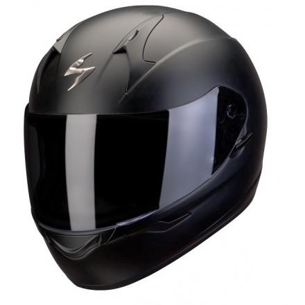 Casco integrale moto Scorpion Exo-390 nero opaco black matt helmet casque