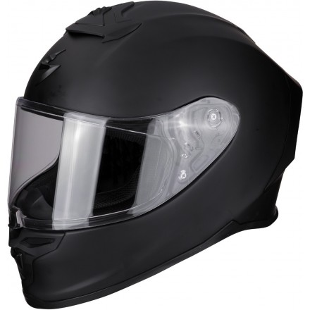 Casco integrale moto fibra Scorpion Exo R1 air nero opaco mat black helmet casque
