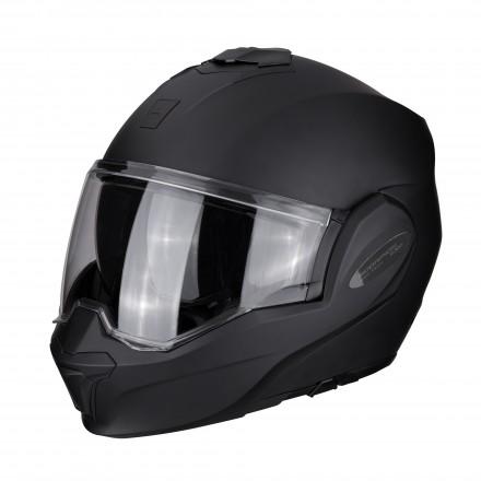 Casco modulare apribile reversibile moto Scorpion Exo Tech nero opaco black matt flip up helmet casque