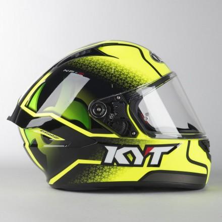 Casco integrale moto KYT NF-R Hyper Fluo giallo yellow helmet casque