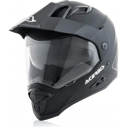 Casco integrale touring adventure moto Acerbis Reactive nero opaco black mat helmet casque