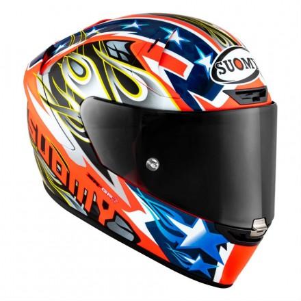 Casco integrale fibra carbonio moto racing pista corsa Suomy Sr-Gp Glory Race helmet casque