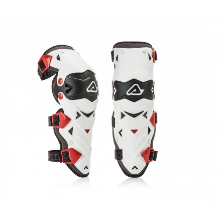 Ginocchiere moto cross Acerbis Impact Evo 3.0 bianco white off road enduro motard knee guards