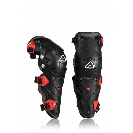 Ginocchiere moto cross Acerbis Impact Evo 3.0 nero rosso black red off road enduro motard knee guards