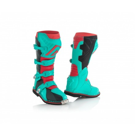 Stivali moto cross Acerbis X-pro V verde rosso green red off road enduro motard boots