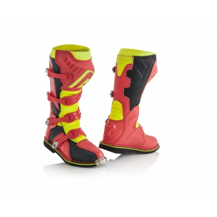 Stivali moto cross Acerbis X-pro V rosso giallo red yellow off road enduro motard boots