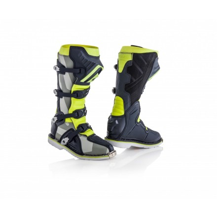 Stivali moto cross Acerbis X-pro V grigio giallo grey yellow off road enduro motard boots