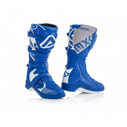Stivali moto cross Acerbis X-pro V blu bianco blue white off road enduro motard boots