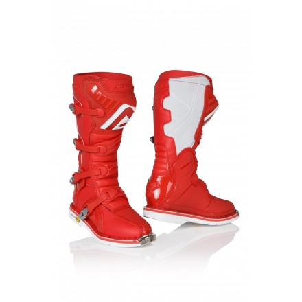 Stivali moto cross Acerbis X-pro V rosso red off road enduro motard boots